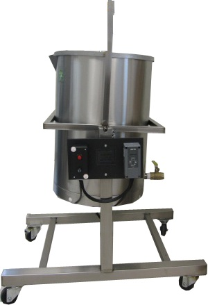 Soap Making Equipment Heated Pot Tipper Kettle Tank With Digital Temperature Control & Ball Valve for Faster Soap Making