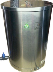 Lye NaOh Stainless Steel storage dispensing tanks for soap making equipment.