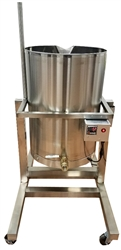 Heated Pot Tipper Soap Making Dispensing Kettle Tank 26 Gallons for soap making equipment.