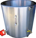Professional grade water jacket melting tank for soap making.