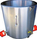 Professional water jacket melting tank for soap making.
